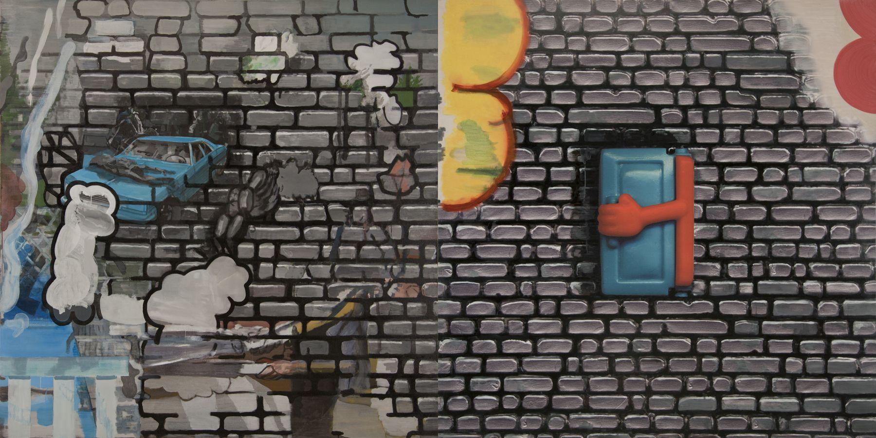 22. Lucky Lotto, 2009, acrylic/tempera/oil/print/canvas, 200 x 400 cm