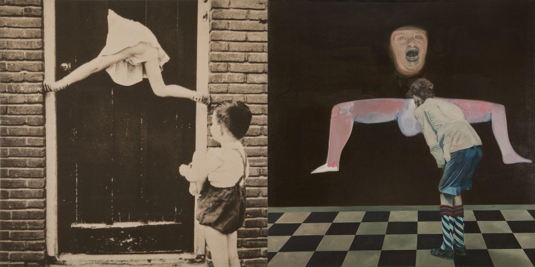 23. Neighbors, 1997, acrylic/oil/print/canvas, 200 x 400 cm
