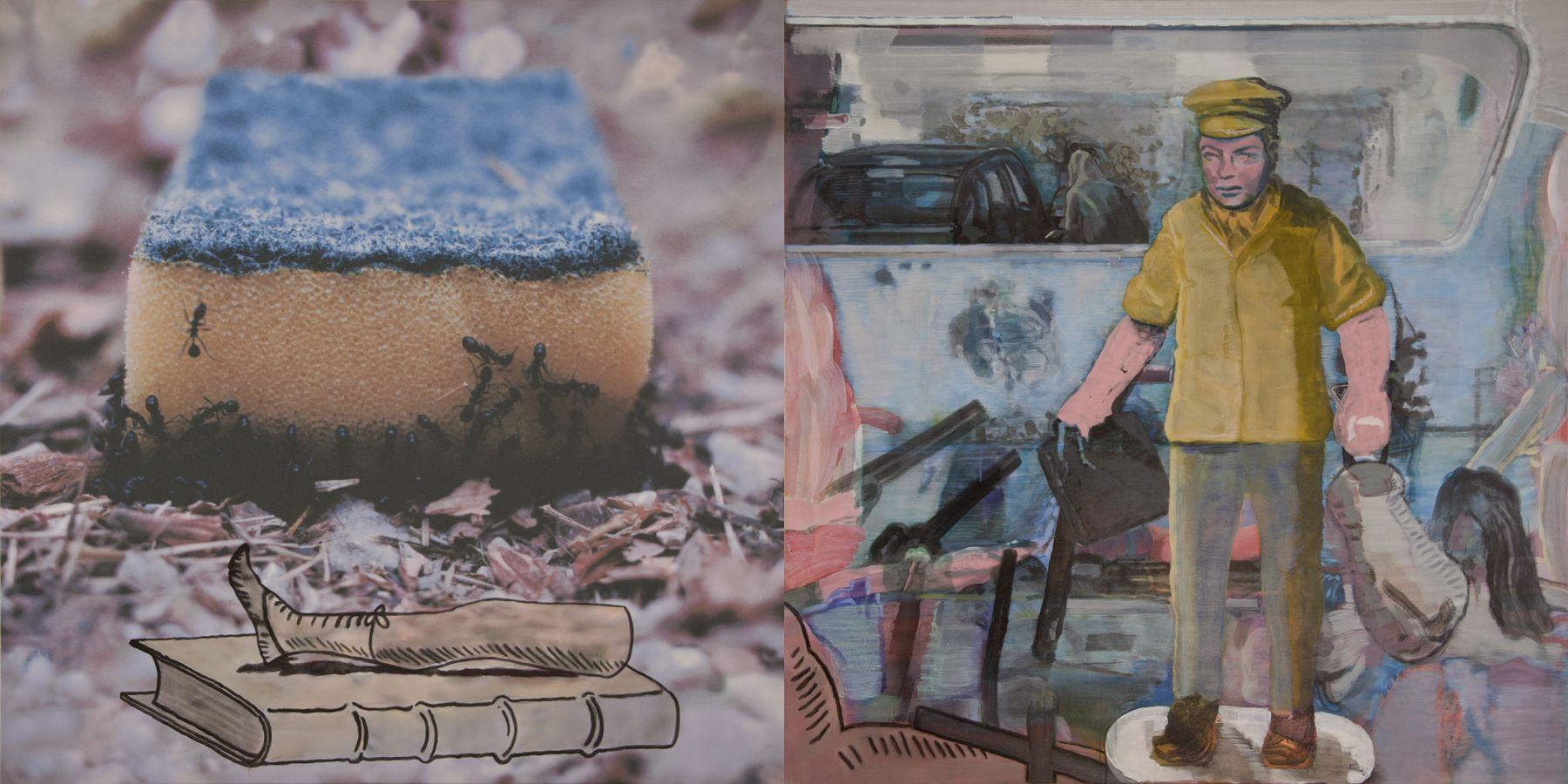 29. Automatic, 2006-2007, acrylic/tempera/oil/print/canvas, 200 x 400 cm