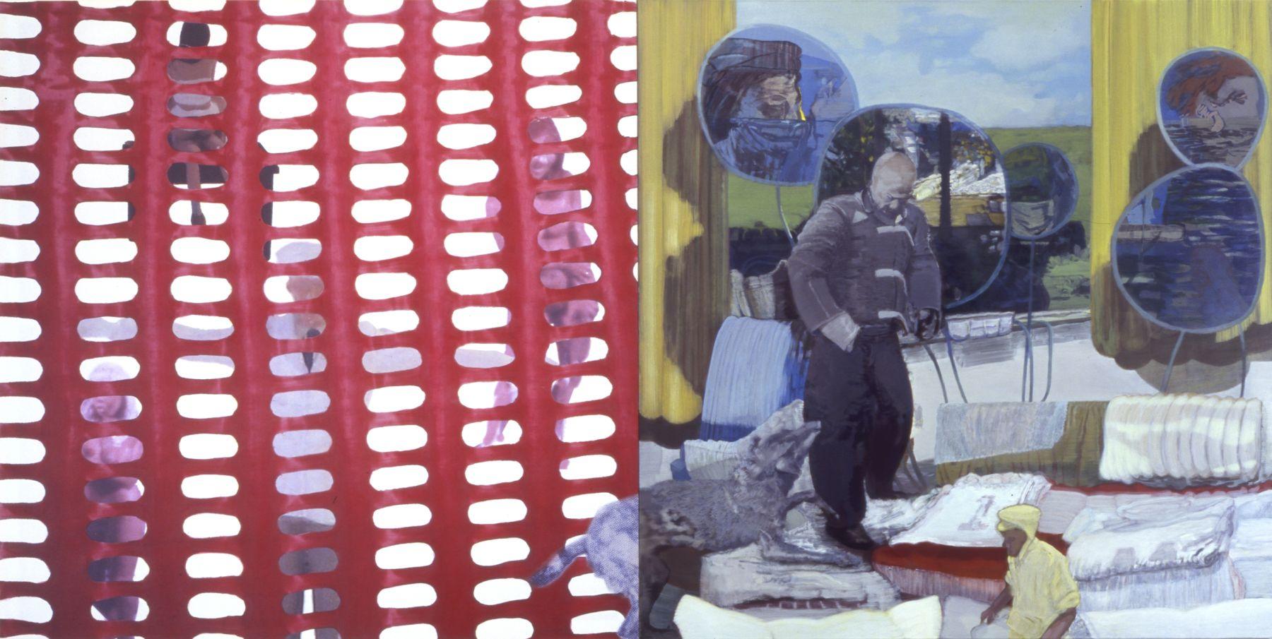 31. Research, 2006, acrylic/oil/print/canvas, 200 x 400 cm