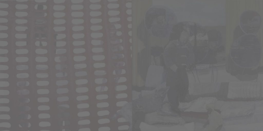 31. Research, 2006, acrylic, oil/print/canvas, 200x400cm (grey)