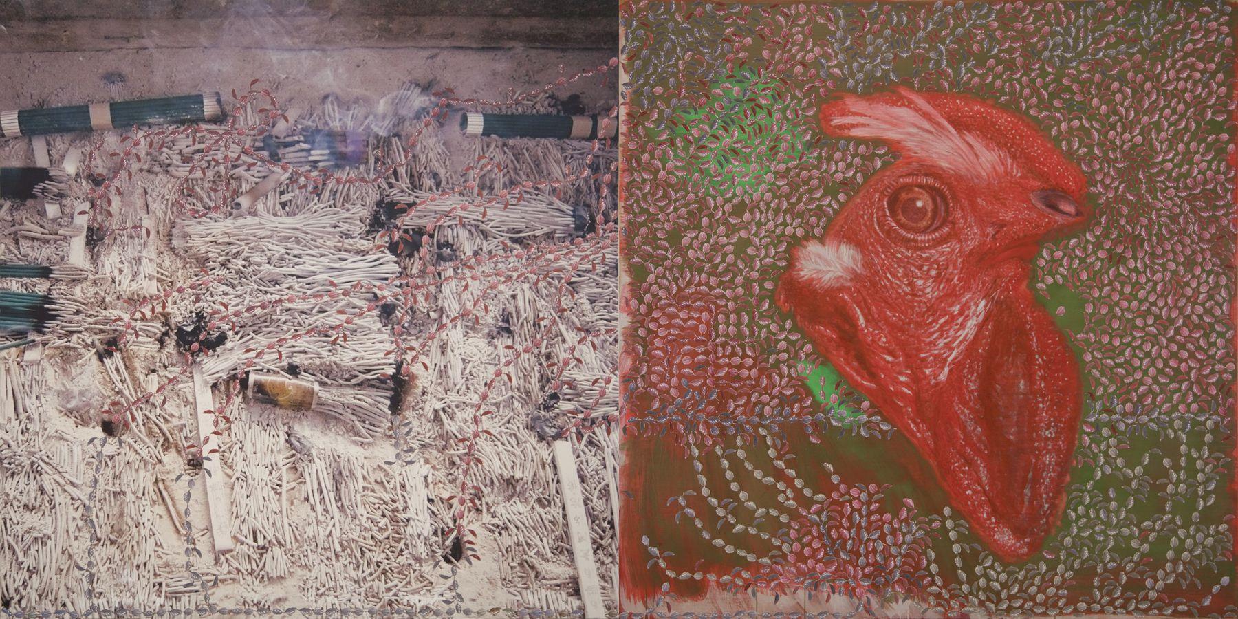 32. Back to the Future, 2009-2010, acrylic/tempera/collage/print/canvas, 200 x 400 cm