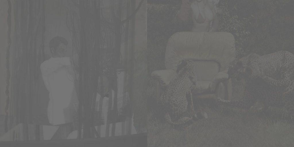 5. Brain Search, 2003-2005, oil/print/canvas, 200x400cm (grey)