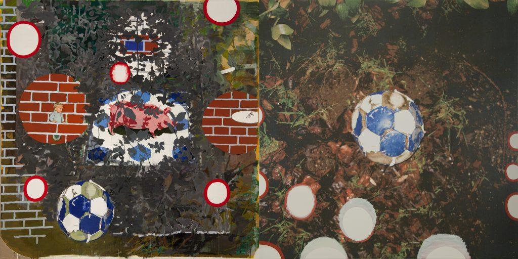 8. Playground, 2012, acrylic/oil/collage/print/canvas, 200 x 400 cm
