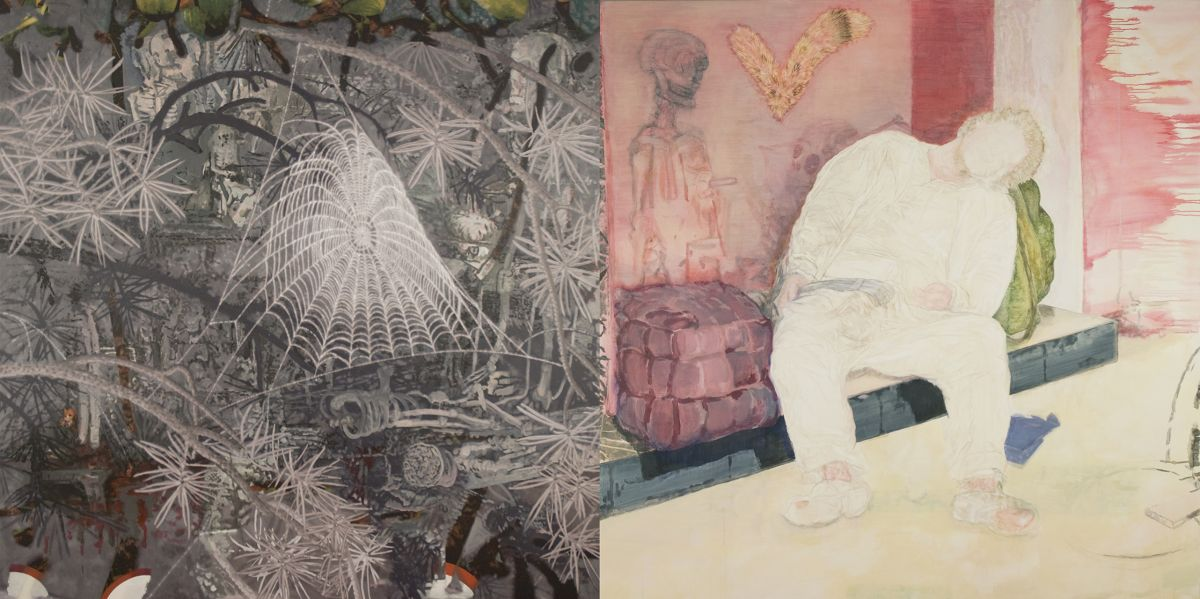9. Death and the Tramp, 2008-2010, acrylic/tempera/oil/print/canvas, 200 x 400 cm