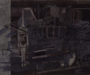Dark Night, 1997, Drawing/Silkscreen/Paper, 100x75cm
