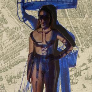 Fundamental Amsterdam 1496, 2017, print, 210 x 112 cm
