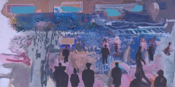 Investigation, 2014, print/acryl/paper, 20 x 40 cm