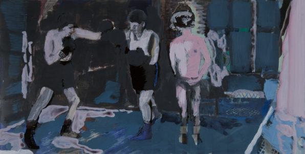 Right Fight, 2014, print/acryl, 20 x 40 cm