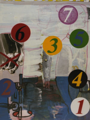 Seven, 1993, acryl/oil/photo/canvas, 175x140cm