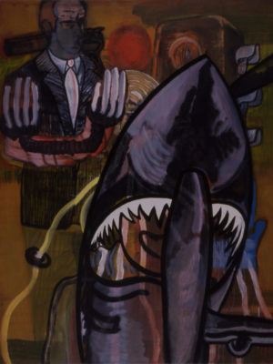 Sharky, 1992-1993, acryl/oil/canvas, 175x140cm