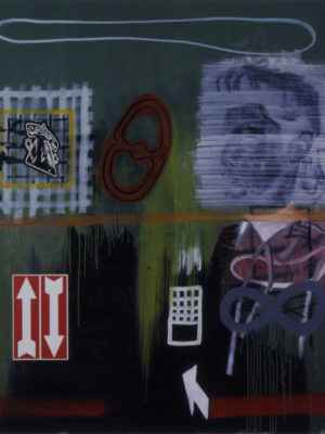 Up and Down,1993, acryl/oil/canvas, 140x100cm