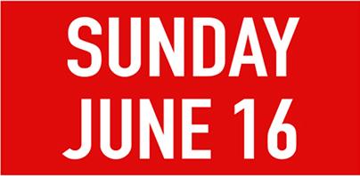 Sunday june 16